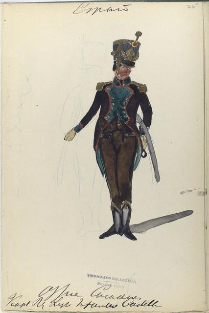 Officier [...]. Reg. Ligera Infanteria Castilla. 1811