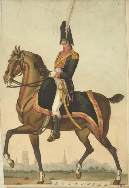 Rotterdam. [Officer riding on a horseback].