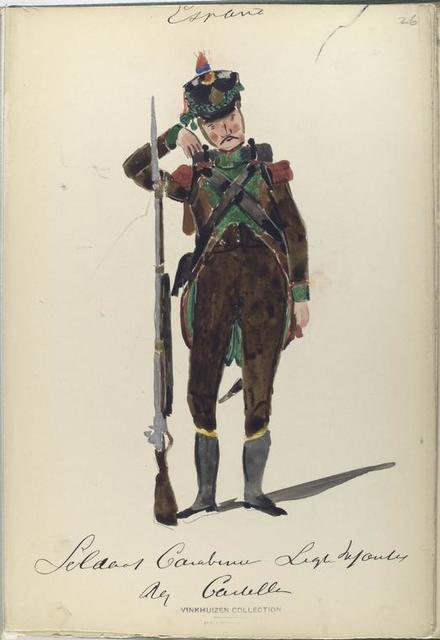 Soldado Carabiner. Ligera Infanteria. Reg. Castilla. 1811