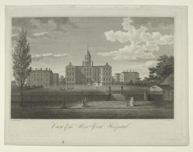 View of the New York hospital.