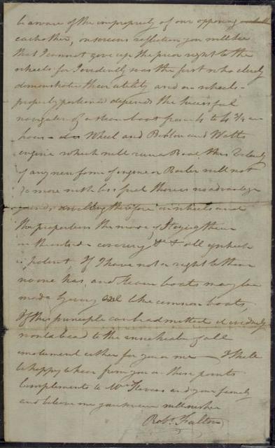 1806, Oct. 28, ALS, Robert Fulton at Washington, to John Stevens