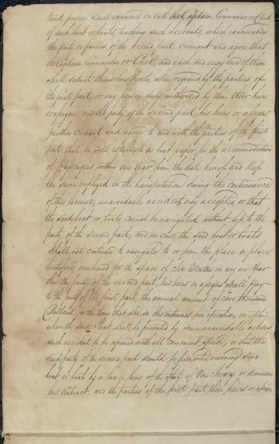 1808, Aug. 20, Contract between Robert R. Livingston & Robert Fulton and John R. Livingston 1814
