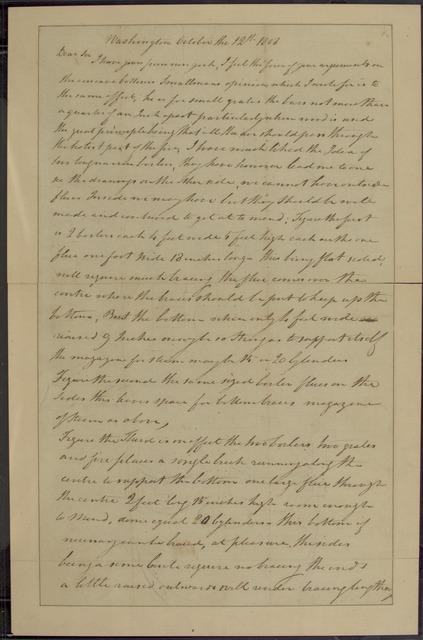 1808, Oct. 12, Robert Fulton at Washington, to [?]