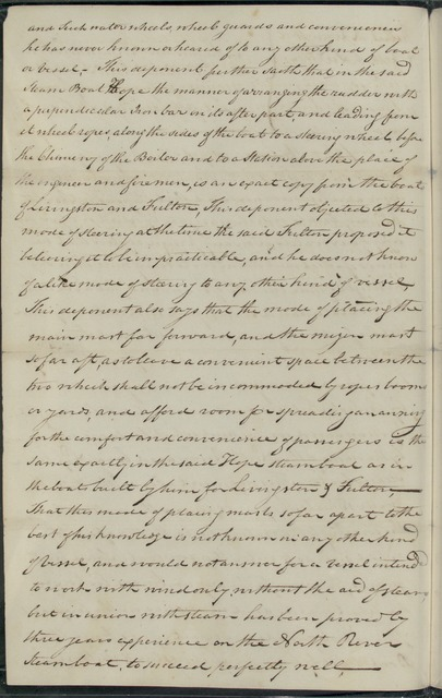 1811, Jul. 23, Brief for the case of Robert R. Livingston & Robert Fulton v. James Van Ingen, Hamilton Boyd and others