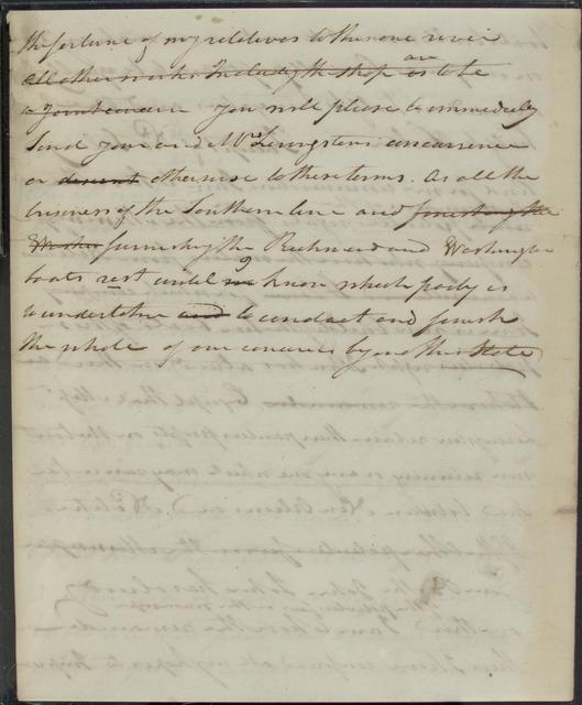 1813, Dec. 1, AL, draft of letter from Robert Fulton to Robert R. Livingston