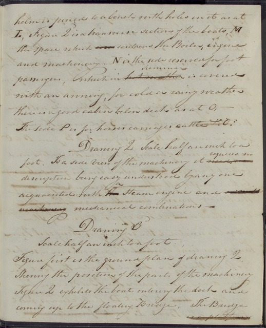 1813, Oct. 8, AD, Specifications for Robert Fulton's ferry boat invention