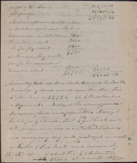 "1814 Receipts & expenses of Steamboats ""Paragon"" and ""Car of Neptune"""