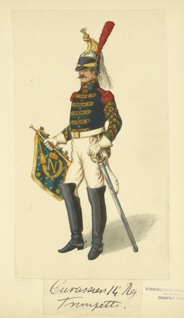 France. Cuirassiers 14-e Régiment. Trompette. (1812).