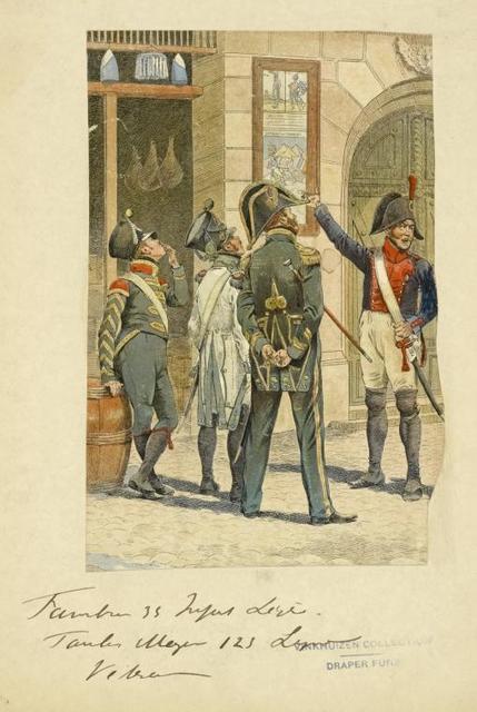 France (Pays Bas). Tambour 33 Infanterie Léger; Tambour Major 123 Léger Vétéran.  (1812).