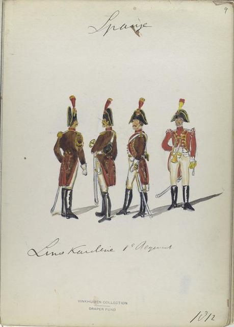 Linea Kavalerie, 1-o Regimento. 1812