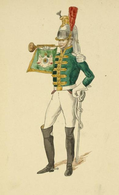 Nederlanden (Domin. Française). 14-e Régiment de Cuirassiers. Trompette (Hollandais) (1812).