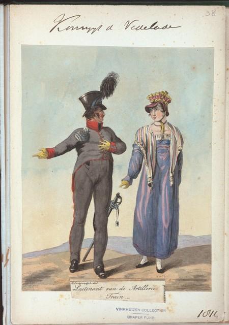 Koningryk der Nederlanden. Leutenant van de Artillerie Train. (1814)
