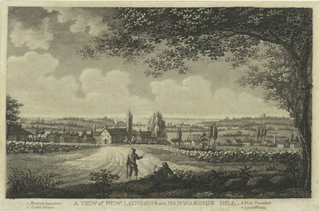 A view of New London from Manwaring's Hill.
