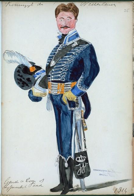 Koningrijk der Nederlanden. Garde de Corps te Lijfwacht te Paard. (1814)