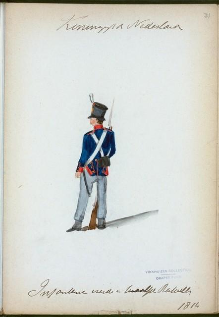 Koningrijk der Nederlanden. Infanterie vierde en twaalfde Bataillons. (1814)