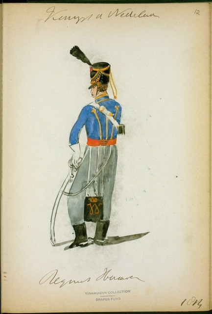 Koningrijk der Nederlanden. Regiment Huzaren. (1814)