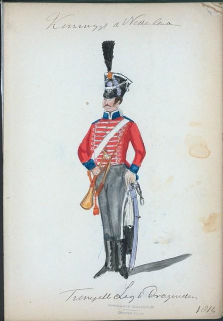 Koningrijk der Nederlanden. Trompette Lijk [?] Dragonders. (1814)