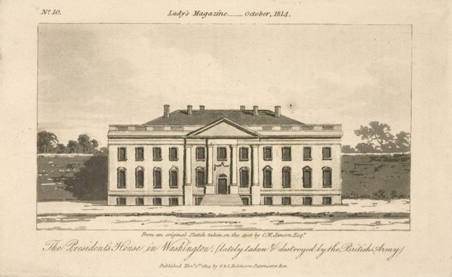The President's house in Washington; (lately taken & destroyed by the British Army)