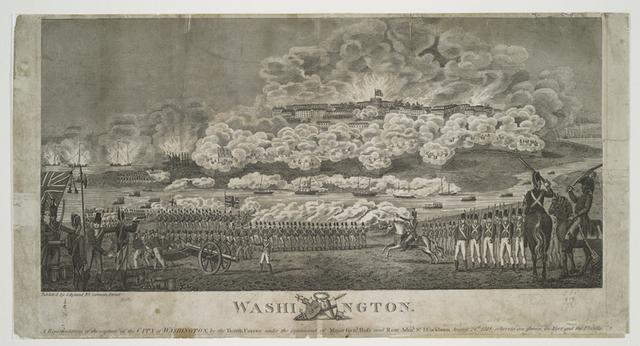 Washington.  A representation of the capture of the city of Washington....
