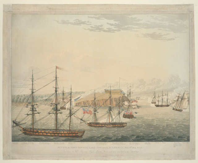 Attack on Fort Oswego, Lake Ontario, N. America.