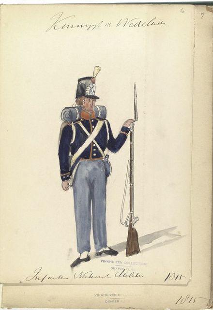 Koningrijk der Nederlanden. Infanterie National Militie. (1815)