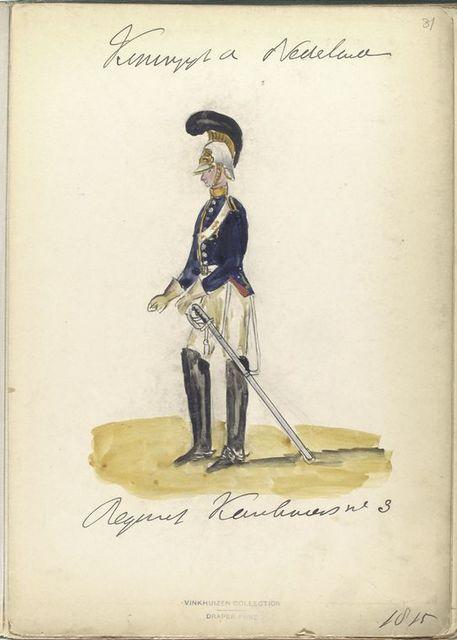 Koningrijk der Nederlanden. Regiment Karabiniers No. 3. (1815)