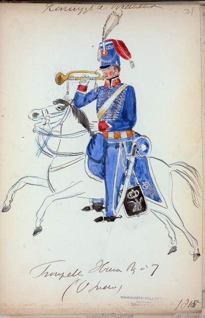 Koningrijk der Nederlanden. Trompetter Hussar Reg. No. 7 (O. Indien). (1815)