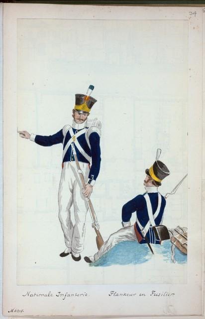 Nationale Infanterie. Flankeur en Fusilier. [1815]