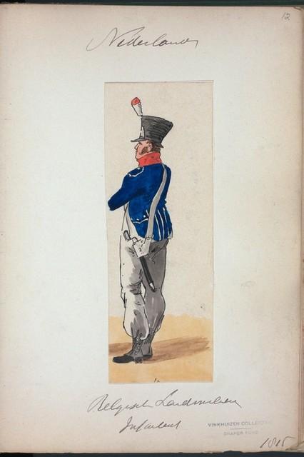Nederlanden. Belgisch Landmilitie Infanterie. (1815)