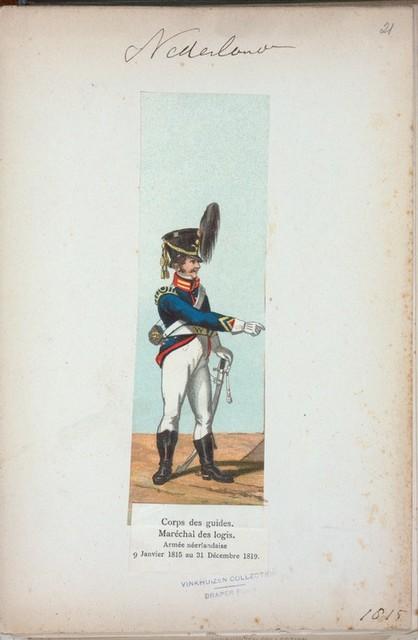 Nederlanden. Corps des guides. Maréchal des logis. Armée néerlandaise 9 Janvier 1815 au 31 Décember 1819. (1815)