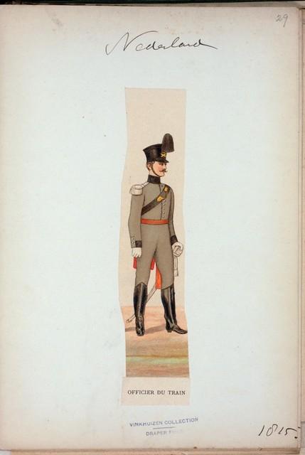 Nederlanden. Officier du Train. (1815)