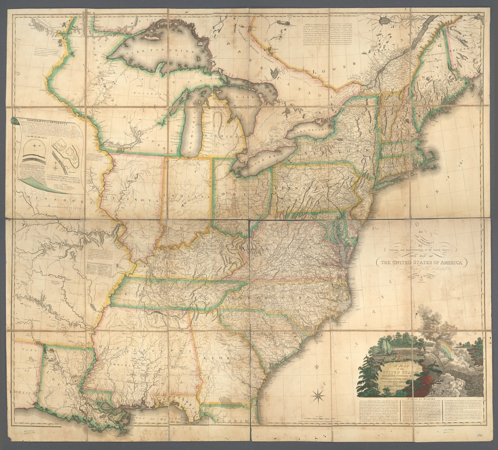 Map Of England Provinces.A Map Of The United States And British Provinces Of Upper And Lower