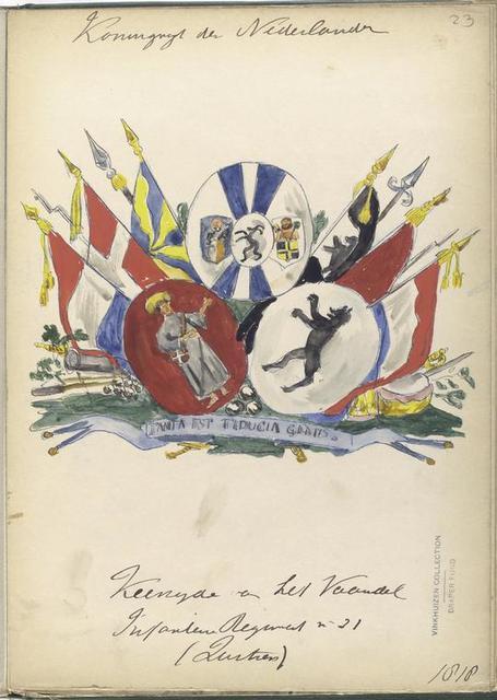 Koninrijk der Nederlanden. K[...]et H[...] V[...] Infanterie Regiment [...] (...).