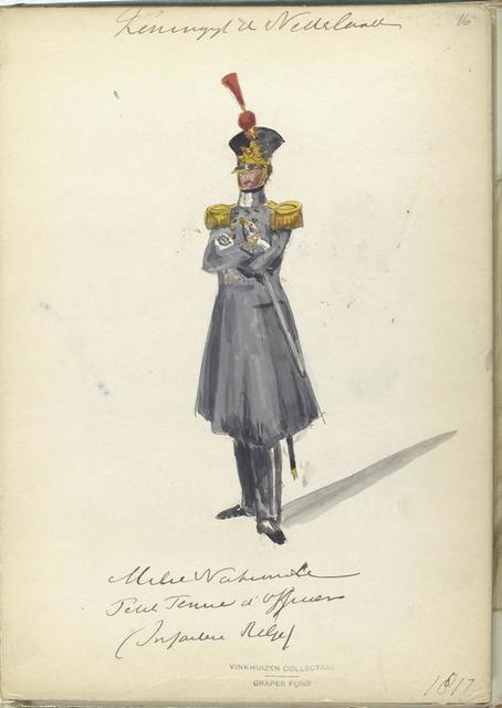 Koninrijk der Nederlanden. Militie Nationale ... Infantrie Rgt. (1817)