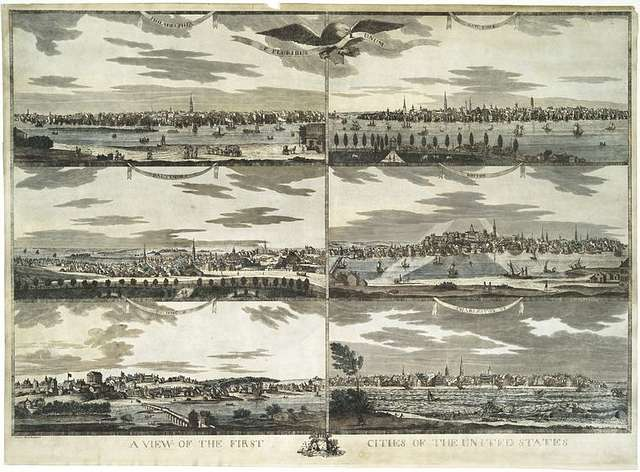 A view of the first cities of the United States; [Detail of Baltimore section]
