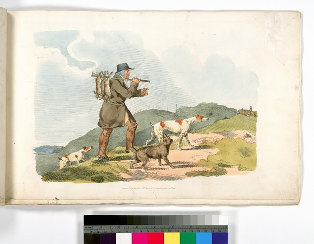 [A hunter with rabbits.]