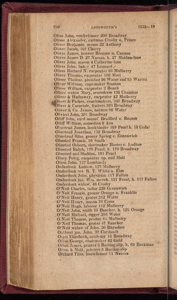 New York City directory, 1818/19
