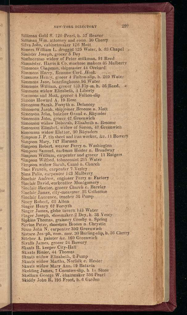 New York City directory, 1818/19
