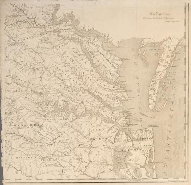 A map of Virginia : formed from actual surveys and the latest as well as the most accurate observations