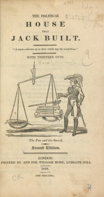The political house that Jack built ... Title page