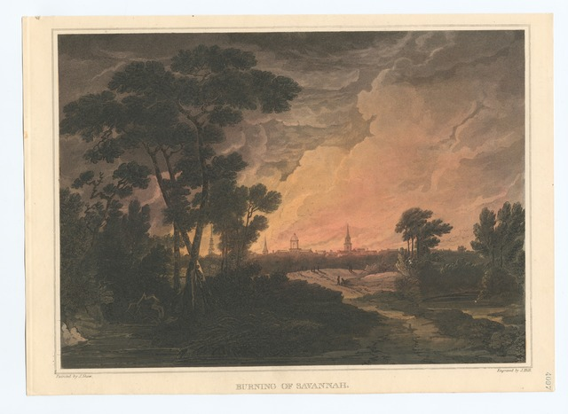 Burning of Savannah.