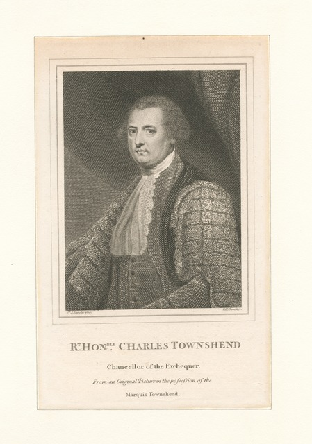 Charles Townshend, chancellor of the exchequer.