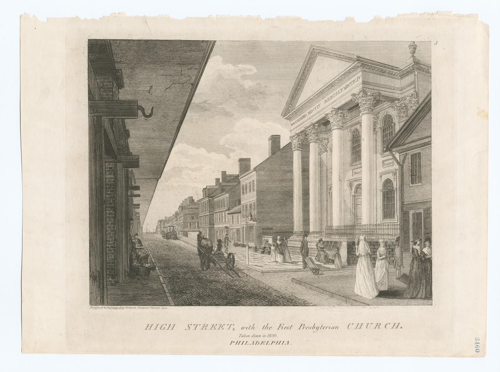 High Street, with the First Presbyterian Church.