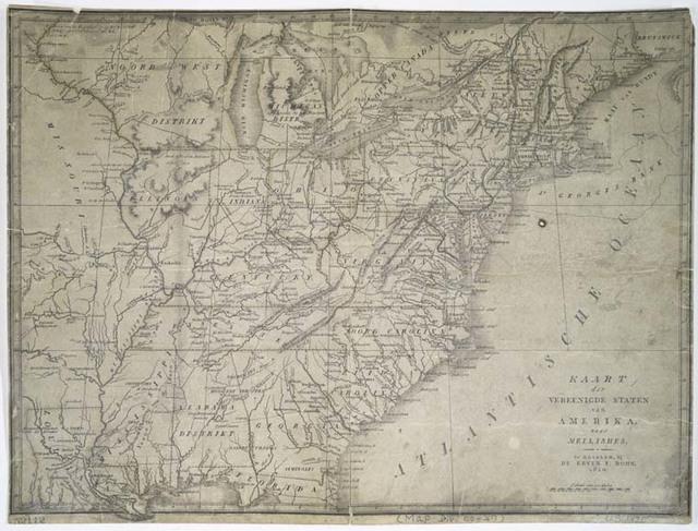 Kaart der vereenigde staten van Amerika, naar Mellishes