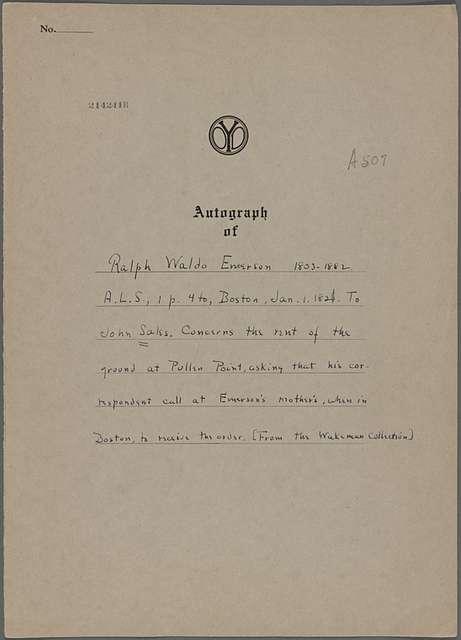Sales, John , ALS to. Jan. 1, 1821.