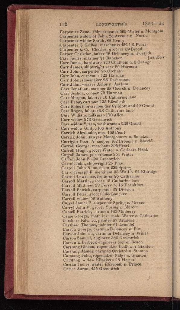New York City directory, 1823/24