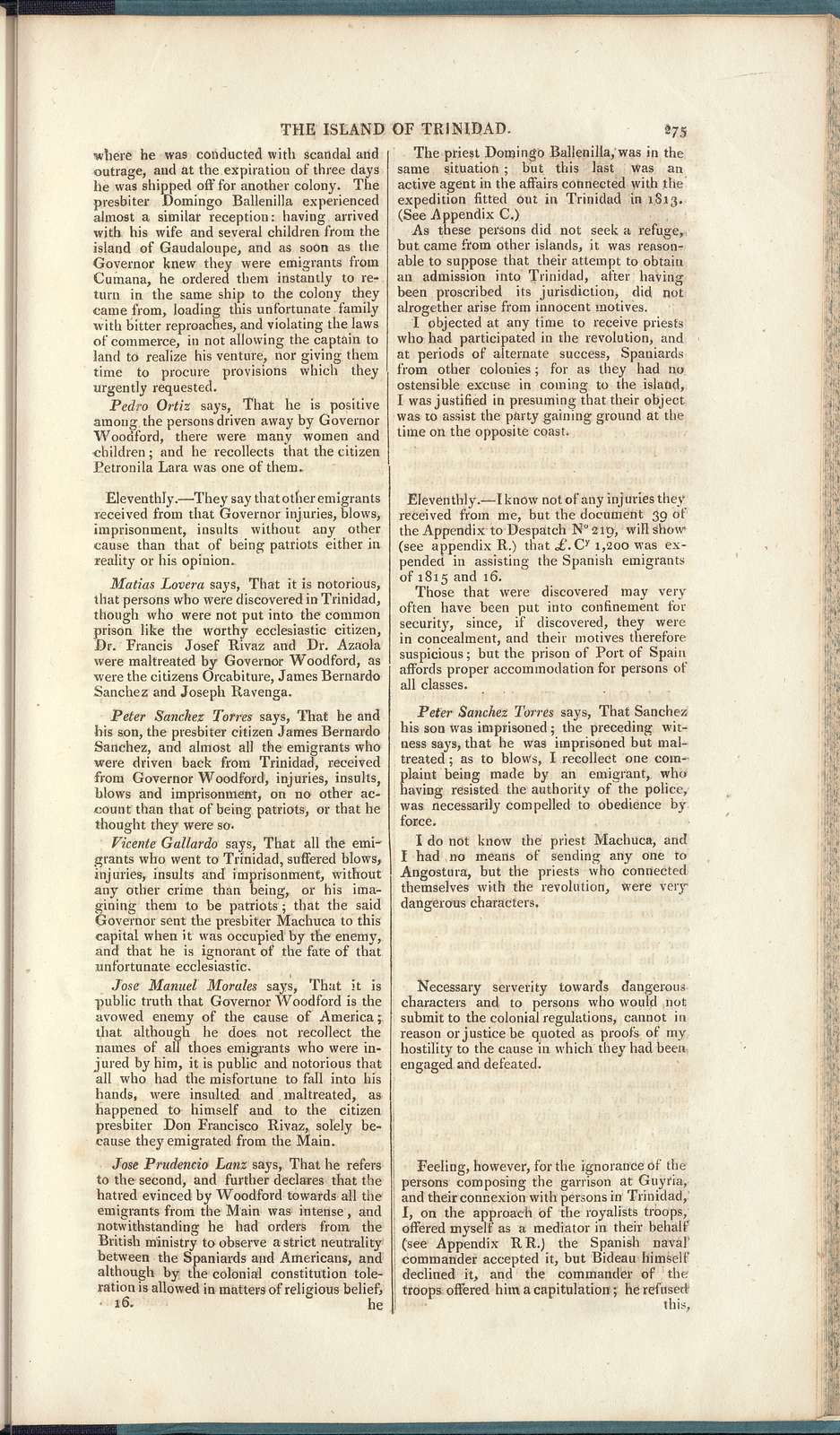 Papers, presented pursuant to address, relating to the Island of Trinidad: [return to an address of the Honourable House of Commons, dated 3d June 1829]