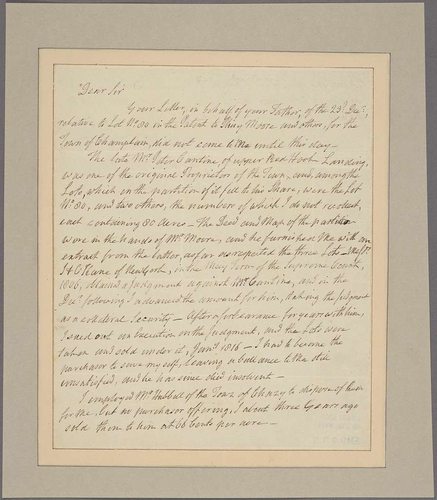 Letter to [William Caldwell, Albany, N. Y.]