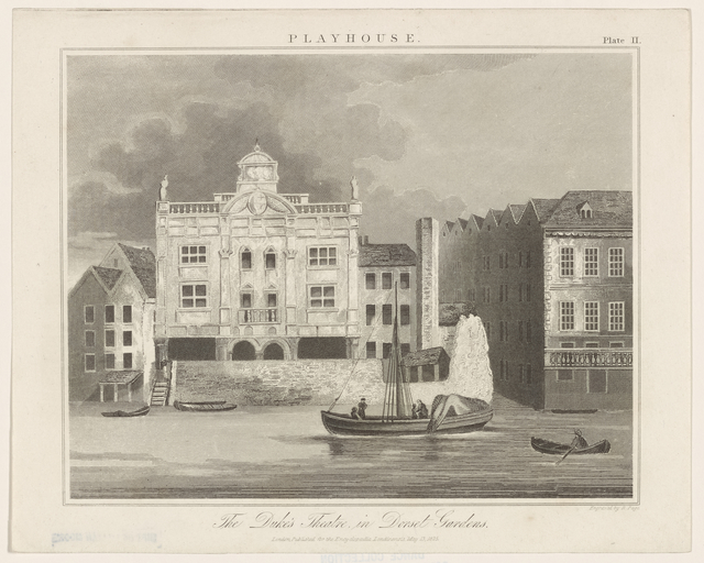 The Duke's theatre in Dorset Gardens
