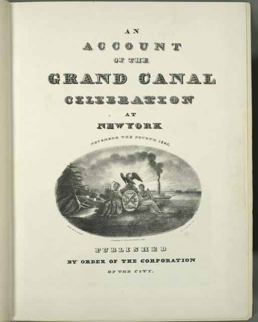 An account of the Grand Canal celebration at New York November the fourth 1825.